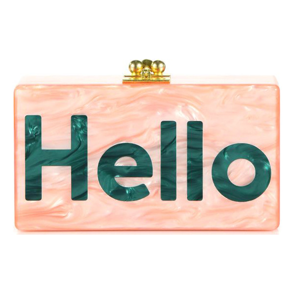 EDIE PARKER Jean hello acrylic clutch - A charming style that speaks for itself, this Edie Parker...