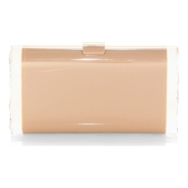 EDIE PARKER lara backlit clutch - Hand-poured acrylic clutch with glossy finish. Acrylic tab...