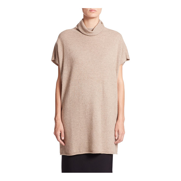 EILEEN FISHER Cashmere turtleneck tunic - Luxe cashmere enhances a relaxed short-sleeve knit finished...