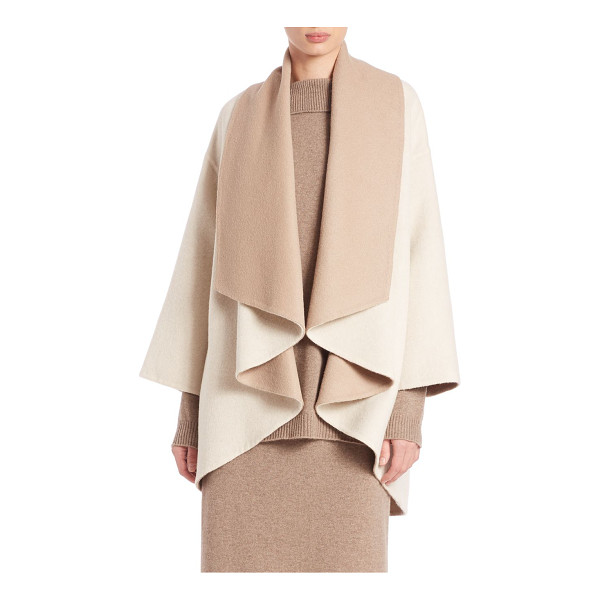EILEEN FISHER Cocoon jacket - EXCLUSIVELY AT SAKSColorblock cocoon layer in alpaca...