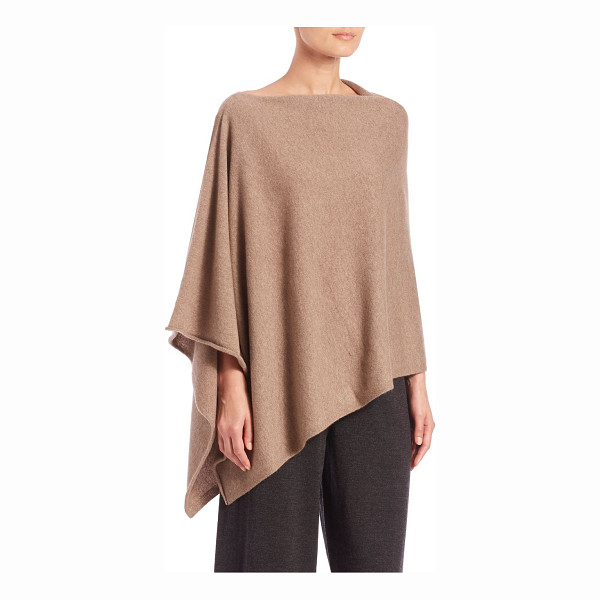 EILEEN FISHER Italian cashmere poncho - Chic essential in Italian cashmereBoatneckSide...