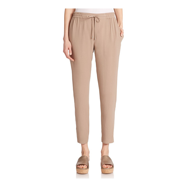EILEEN FISHER Silk drawstring pants - Silk georgette delivers a polished aura to these versatile...