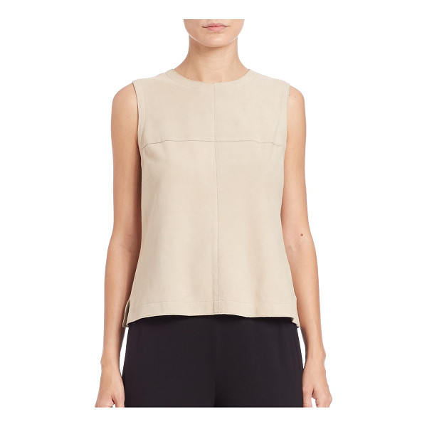 EILEEN FISHER Suede shell - Cut from smooth suede, this tailored sleeveless shell...