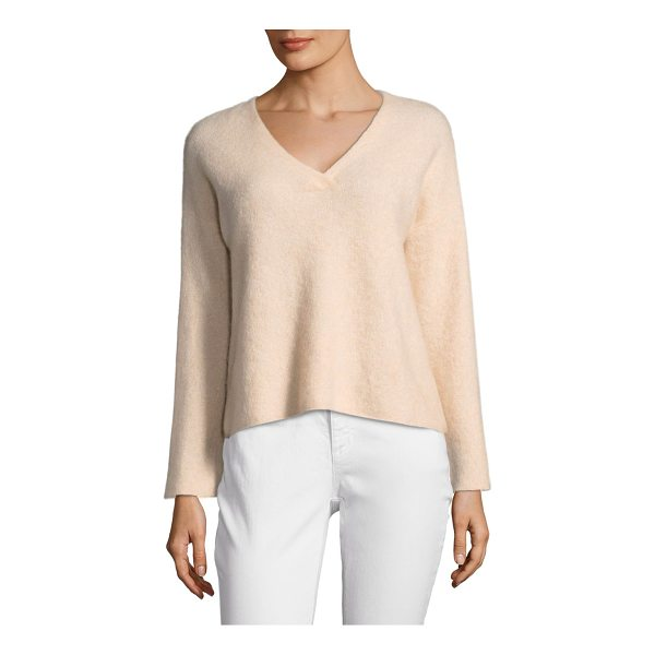 EILEEN FISHER v-neck sweater - Cozy cashmere sweater.V-neck. Dropped-shoulders. Long...
