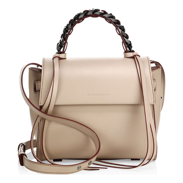 ELENA GHISELLINI angel sensua leather satchel - Sleek leather flap silhouette with woven chain handle.