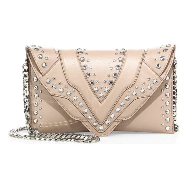 ELENA GHISELLINI selina studded leather crossbody bag - Crossbody-to-clutch design studded with crystals....