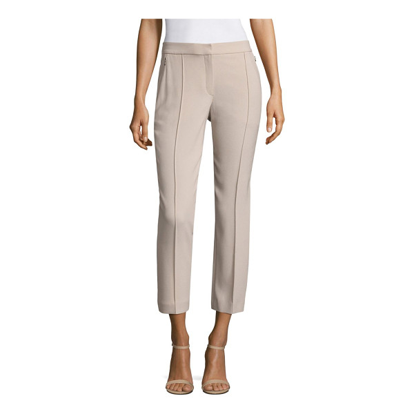 ELIE TAHARI front seamed cropped ankle pants - Dressed up, cropped pants with flattering front seams. Zip...