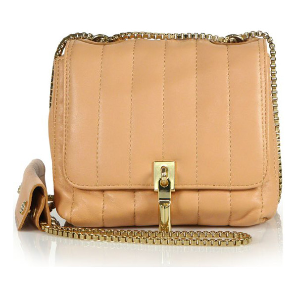 ELIZABETH AND JAMES Cynnie mini quilted leather shoulder bag - Crafted from luxe quilted leather in a petite design, this...