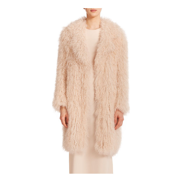 ELIZABETH AND JAMES Hart fur jacket - Shaggy lamb's fur shapes this luxurious topper, cut with an...