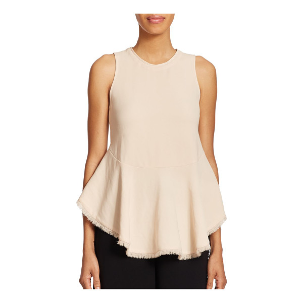 ELIZABETH AND JAMES Merlyn top - Fringe trim accentuates this distinctively shaped top, cut...