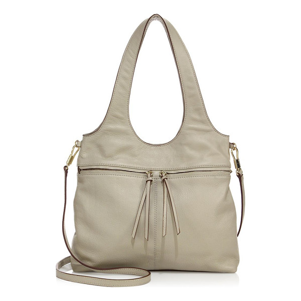 ELIZABETH AND JAMES zoe small leather carryall tote - Distinctive silhouette shaped from pebbled leather. Double...
