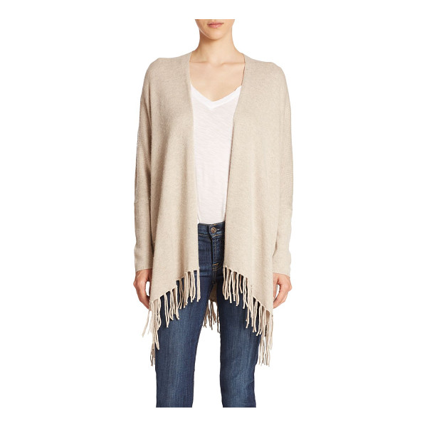 ELLA MOSS kenya fringe cardigan - The relaxed silhouette of this open-front cardigan is...