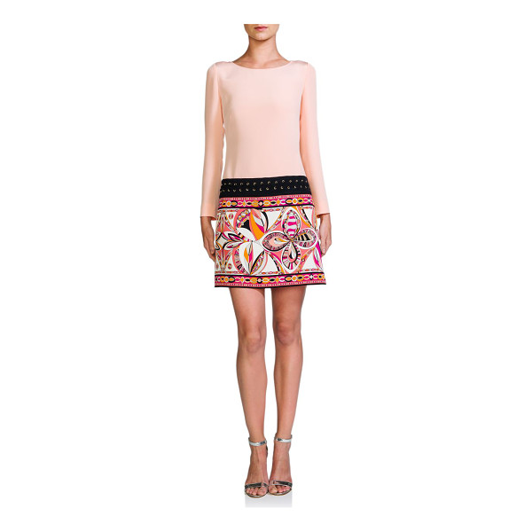 EMILIO PUCCI Cadi whipstitch-trim shift - A signature-print skirt and whipstitch-trimmed drop-waist...