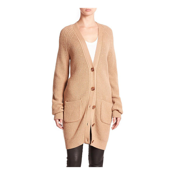 EQUIPMENT Kathy wool & cashmere cardigan - This elongated cardigan, crafted from wool and cashmere,...