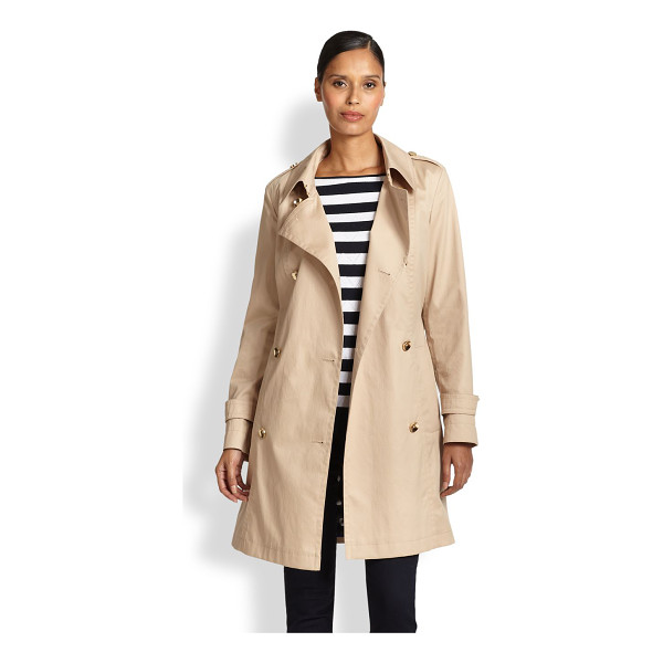 ESCADA Belted trenchcoat - A sartorial staple in lightweight stretch cotton is...