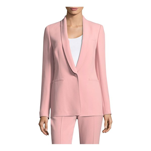 ESCADA one-button wool blazer - Luxe wool blazer with single button closure. Shawl collar....