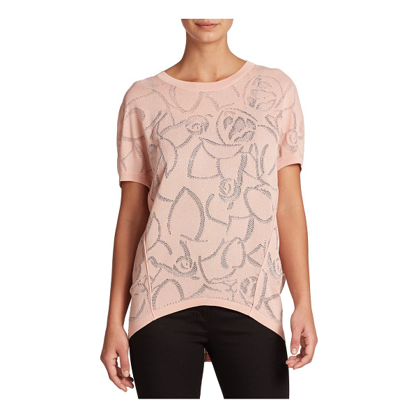 ESCADA Rose jacquard dolman sweater - A charming rose jacquard pattern embellishes this easygoing...