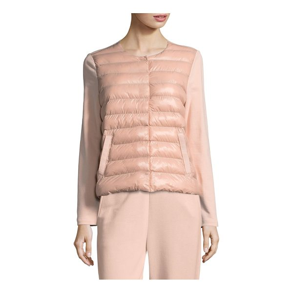 ESCADA SPORT balvel combo puffer jacket - Cotton-blend puffer jacket with quilted front detail....