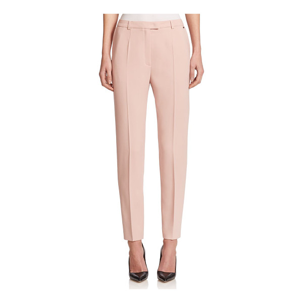 ESCADA Tapered wool pants - A tapered silhouette defines these polished trousers,...