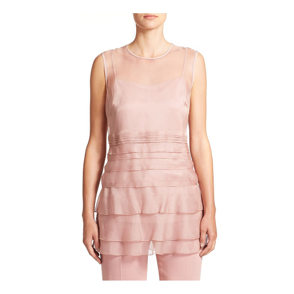 ESCADA Tiered silk chiffon blouse - Soft tiers of silk chiffon lend an airy, romantic feel to...