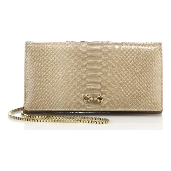 ETHAN K mrs. baker python clutch - From the Icons Collection. Striking python clutch with