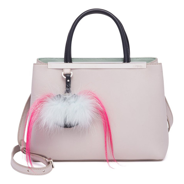 FENDI 2jours fur-detail leather shopper - Plush fur bag bug playfully details leather shopper. Double...