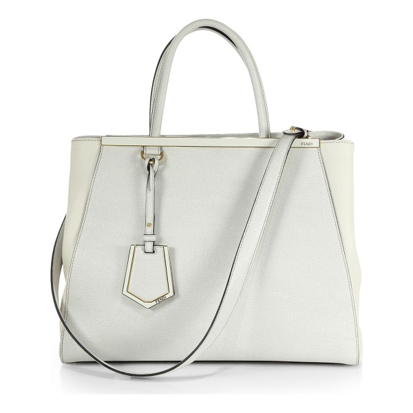 FENDI 2jours medium shopper - A roomy style in luxurious leather and matching coated...