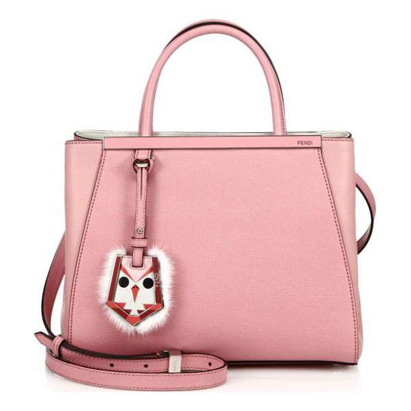 FENDI 2jours petite fur-trimmed shopper - A timeless petite style masterfully crafted of Italian...