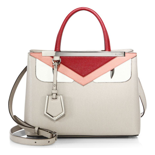 FENDI 2jours small monster face satchel - Classic satchel with colorblock monster design. Top handle.