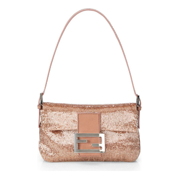 FENDI mini beaded baguette - Sparkle in this rich, beaded style in an iconic, signature...