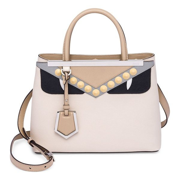 FENDI camelia monster eye leather satchel - Colorblocked satchel with monster eye detail. Double top...