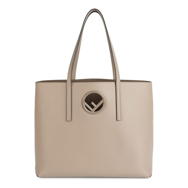 FENDI classic leather shopper - Leather shopper embellished with classic logo. Double top...