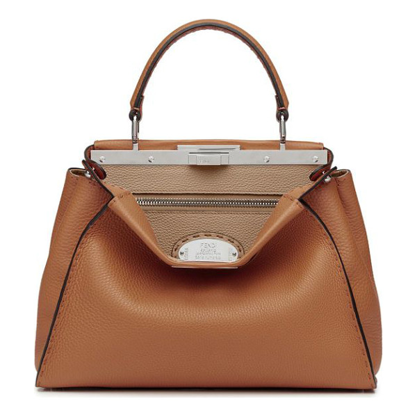 FENDI selleria peekaboo leather satchel - A Fendi classic crafted of richly textured pebbled leather