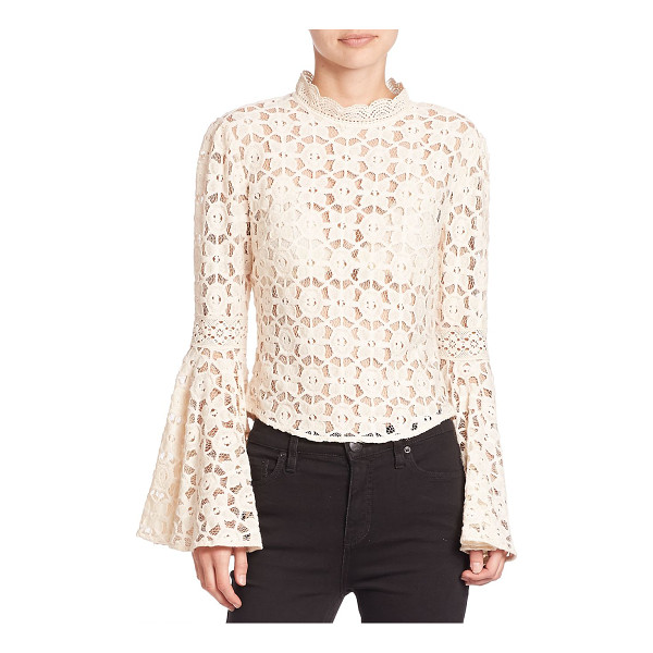 FREE PEOPLE kiss & bell lace top - A sultry top with lace and back cutout detail. Scalloped...