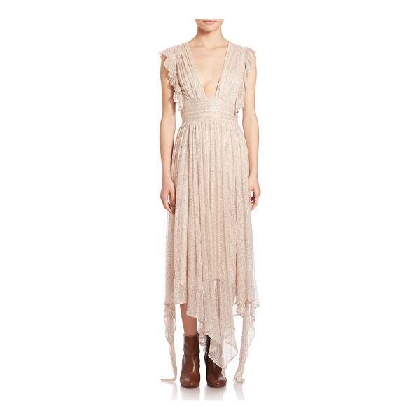 FREE PEOPLE my antonia deep v-neck maxi dress - Romantic ruffled maxi finished with a touch of shimmer....