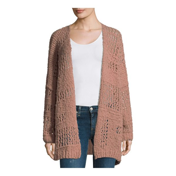 FREE PEOPLE saturday morning cardigan - Open front rochet detailed cardigan. Dropped shoulders....