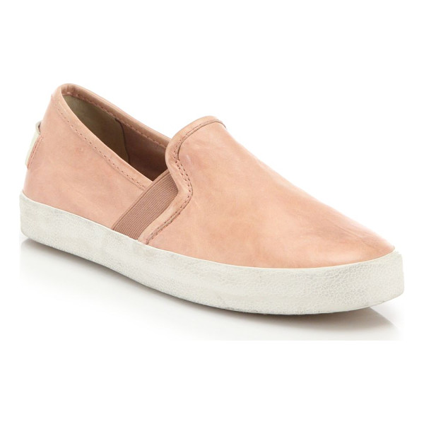 FRYE dylan suede slip-on sneakers - Distressed suede refines classic slip-on sneakers. Suede...