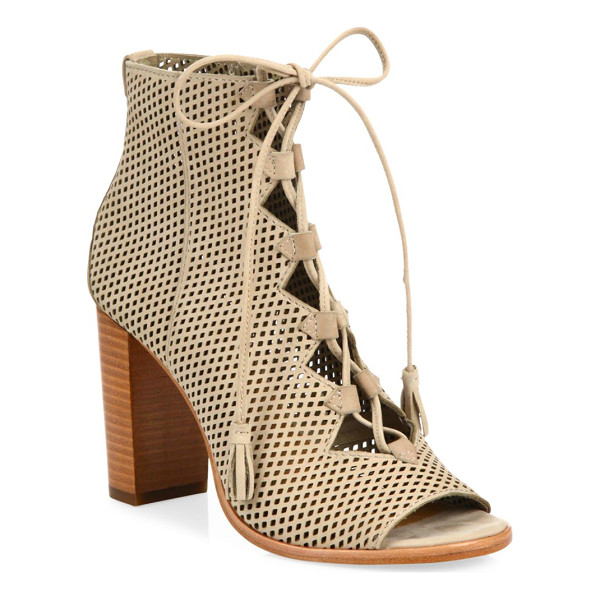 FRYE gabby perforated ghillie lace-up nubuck sandals - Perforated nubuck sandals in classic lace-up design....