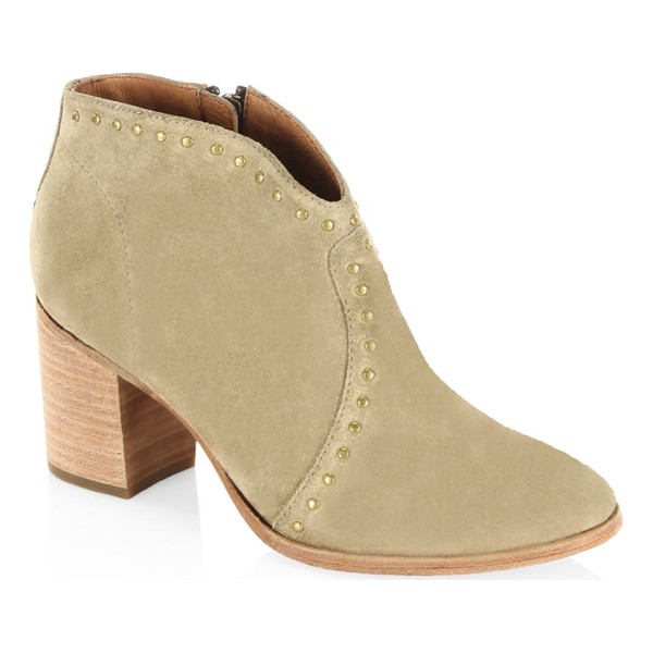 FRYE nora studded suede ankle boots - Fashionable ankle boots highlighted by crystal studs....