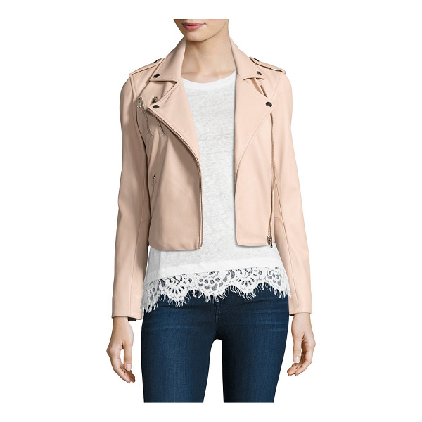 GENERATION LOVE callahan lace-up leather moto jacket - Lace-up sides add edge to leather moto jacket. Fold-over...