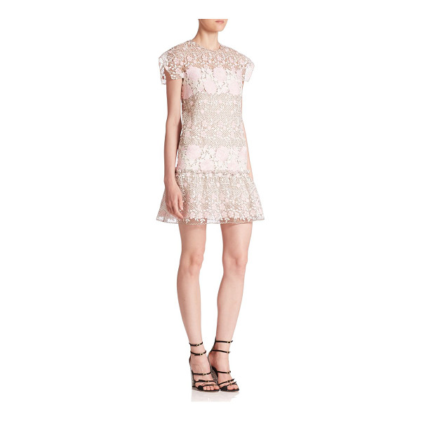 GIAMBATTISTA VALLI floral embroidered dress - Open lace dress featuring beautiful floral embroidery....