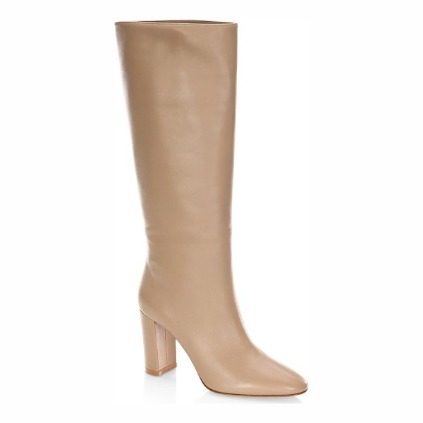 GIANVITO ROSSI leather knee-high boots - Knee-high boots featuring tonal stitching details....