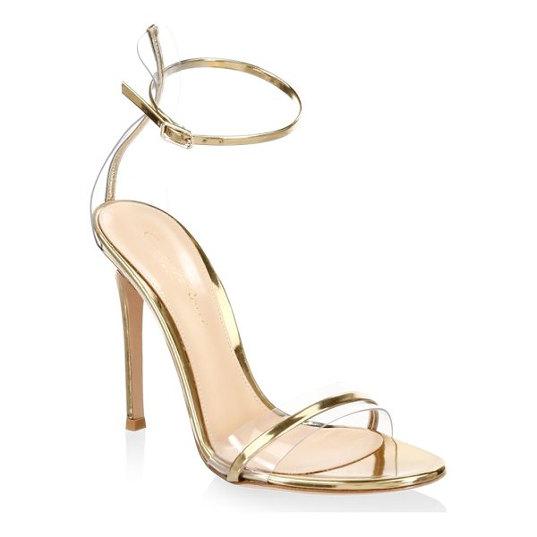 GIANVITO ROSSI portofino ankle-strap sandals - Metallic stiletto sandals in a sophisticated style....