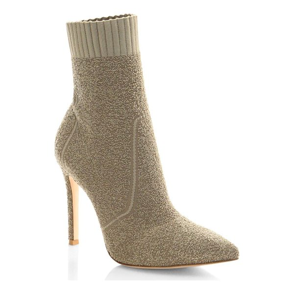 GIANVITO ROSSI knit boucle sock booties - Stretch booties featuring ribbed collar. Stiletto heel,...