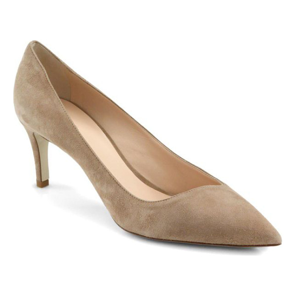 GIORGIO ARMANI Asymmetrical 65 suede pumps - Softly tailored in plush Italian suede, this asymmetrical...