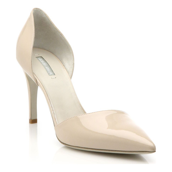 GIORGIO ARMANI patent leather d'orsay pumps - These sleek d'Orsay pumps of high-shine patent leather are