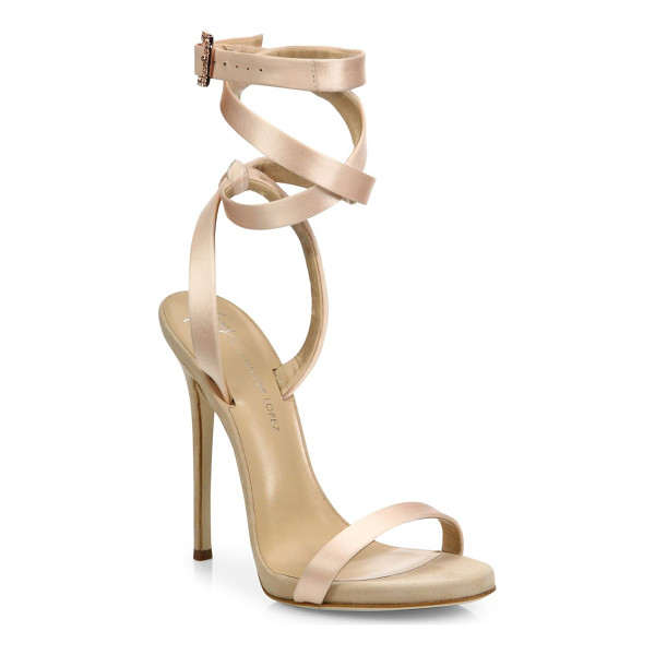 GIUSEPPE ZANOTTI giuseppe for jennifer lopez 120 satin ankle-wrap sandals - From the Giuseppe for Jennifer Lopez Capsule Collection....