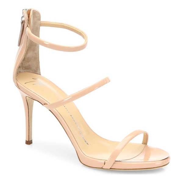 GIUSEPPE ZANOTTI harmony patent leather sandals - Polished patent leather sandals with feminine appeal....