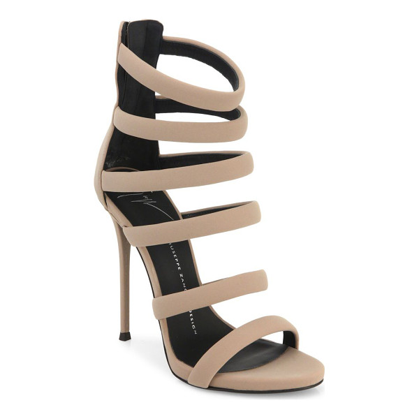 GIUSEPPE ZANOTTI neoprene strappy sandals - Vibrant strappy sandals with glistering hardware.