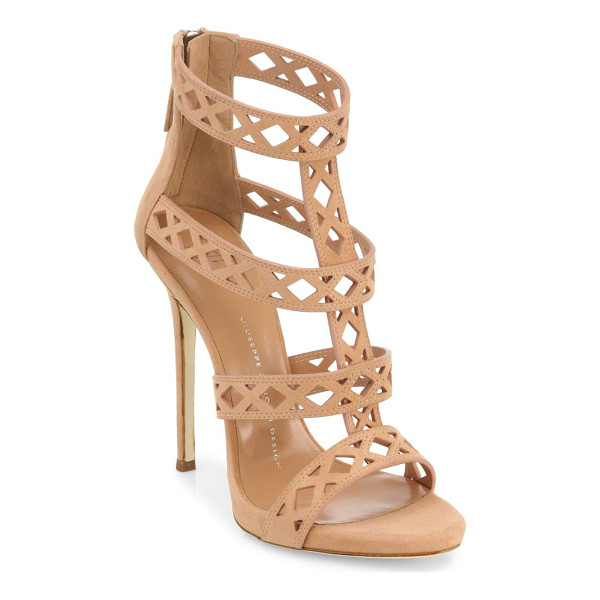 GIUSEPPE ZANOTTI perforated suede sandals - Striking suede sandals with perforations on straps.